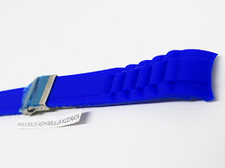 BRIGHT BLUE SILICON RUBBER STRAP 20mm