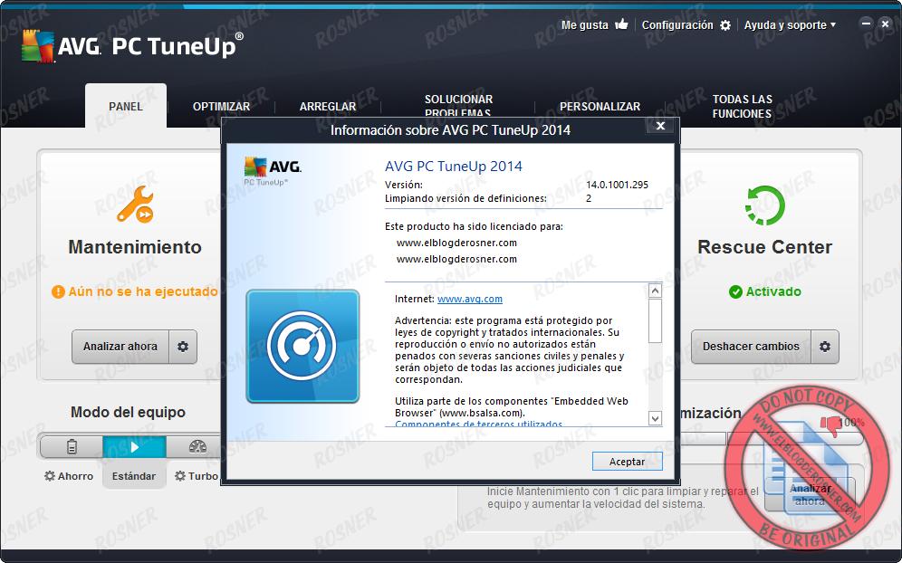 AVG PC TuneUp 2014 14.0.1001.295