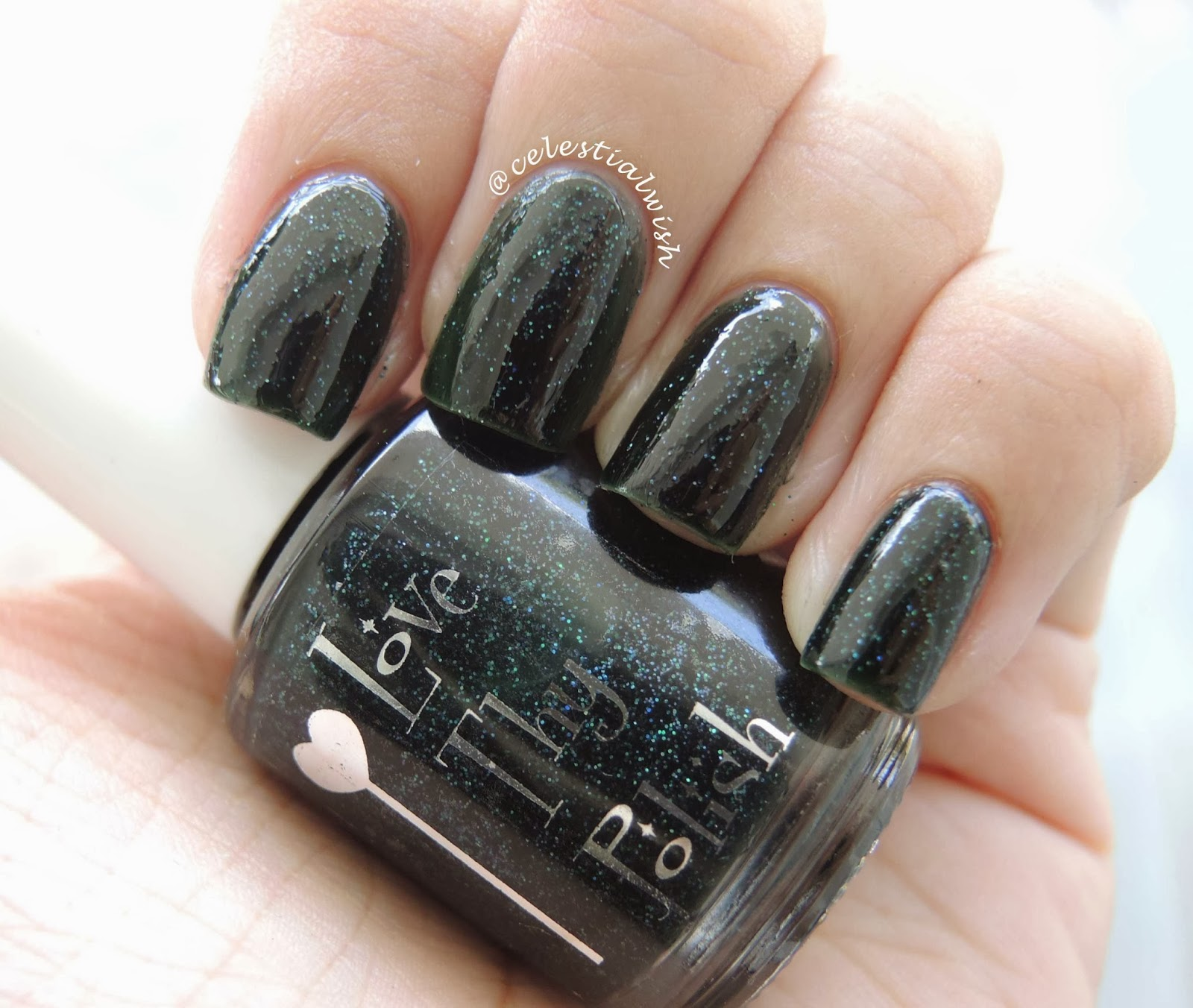 Love Thy's Polish Magic Forest with bottle