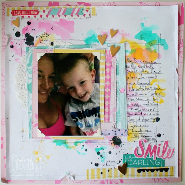 Smile Darling layout by Bernii Miller using the serendipity collection.