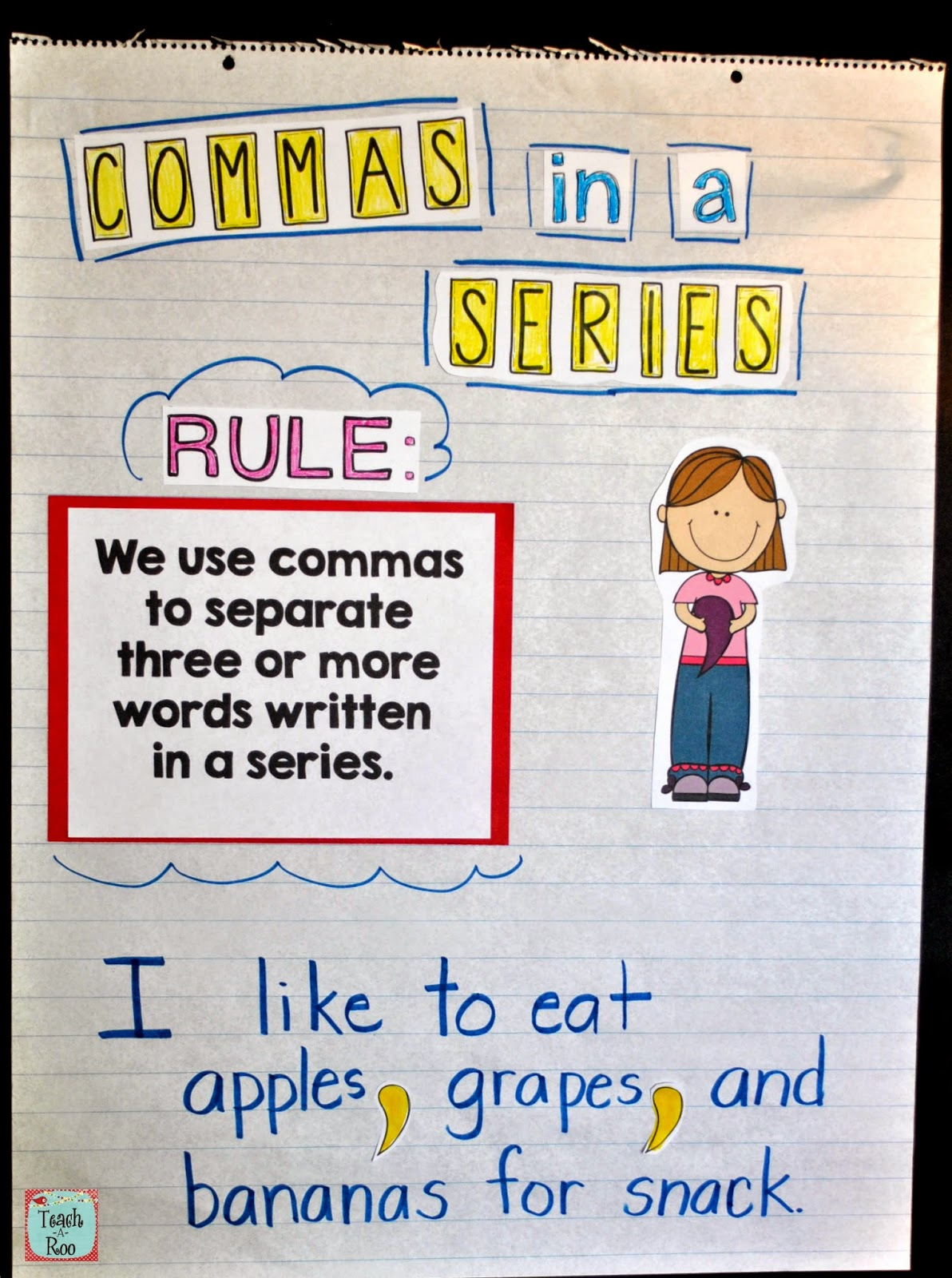 Commas in a series worksheet grade 1