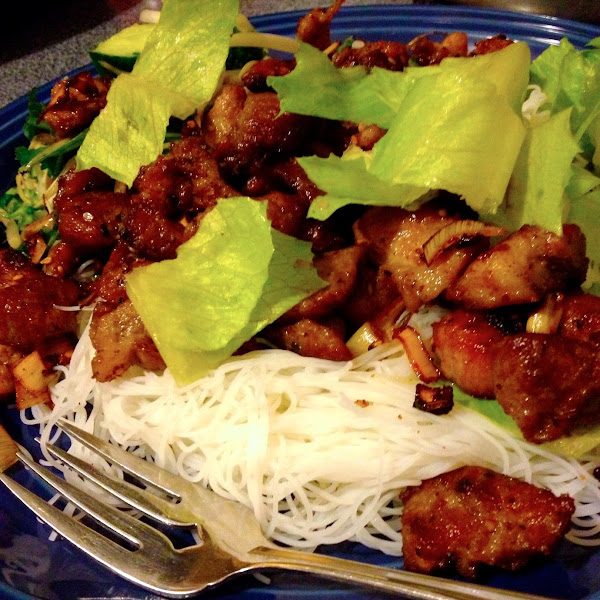 Vietnamese Grilled Pork with Lemongrass-Thit Nuong