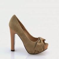 Pantofi dama bej piele eco