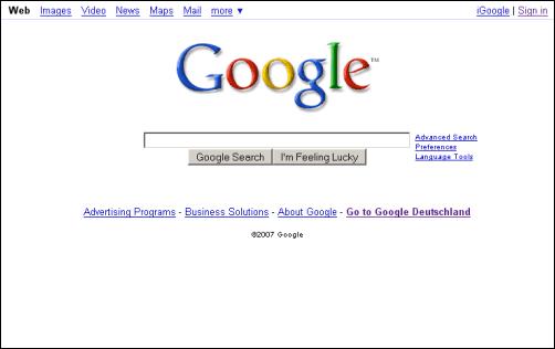 Tampilan Google Dari Tahun ke Tahun 7