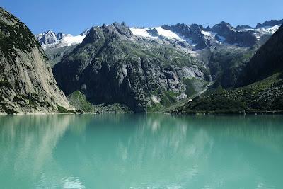 Gelmersee lake, Switzerland