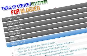Cara Pasang Table Of Content / Sitemap Untuk Blogger