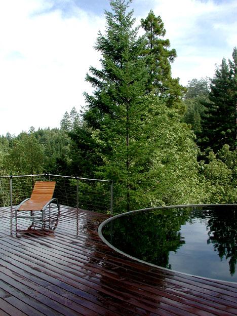 Sommerhaus nördlich von San Francisco von Olle Lundberg - Wildnis pur auf großer Terrasse plus Swimmingpool