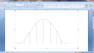 my personal drawing of a bell curve