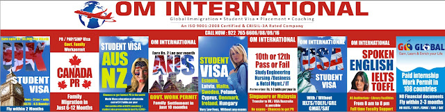 Welcome To OM International, Gujarat's Leading Study Abroad & Migration VISA Consultancy,15 yrs old