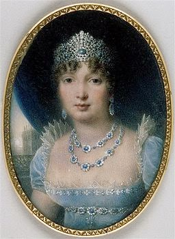 Miniature of Caroline Bonaparte Murat by Jean-Baptiste Isabey