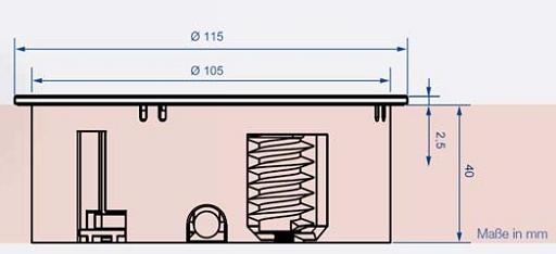 enchufe bancada cocina tapa giratoria