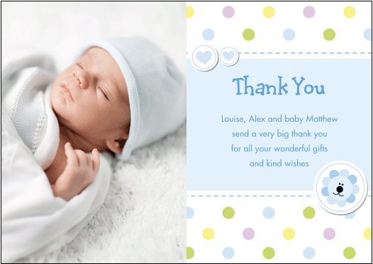 Baby Gift Thank You Sample : Mummyslittlepeeps baby thank you cards
