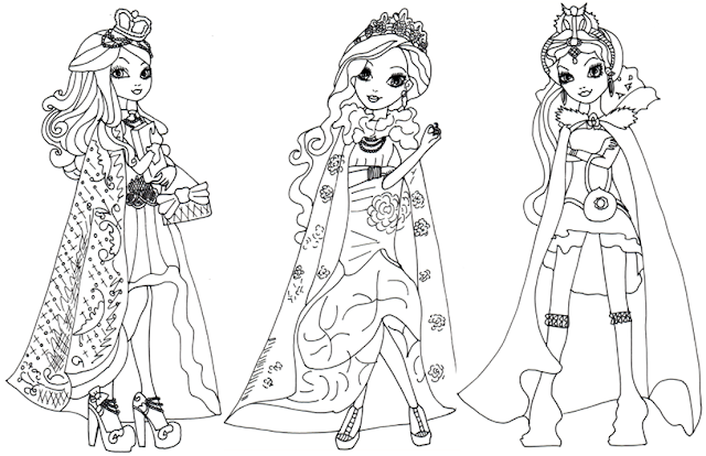 Free printable ever after high coloring pages ever after for Ever after high free coloring pages
