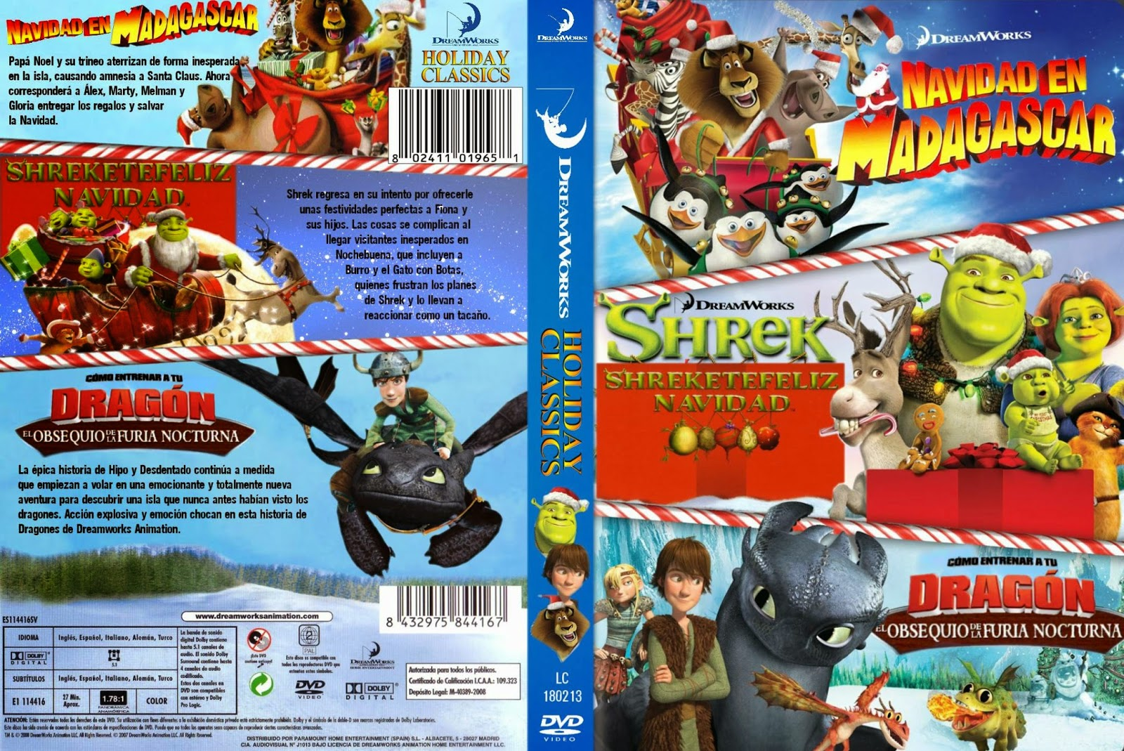 Holliday Classics [MERRY-SHREK-DRAGON] DVD FULL