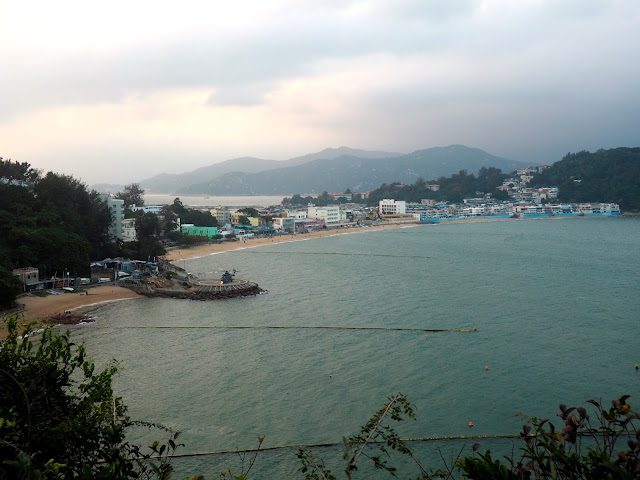 View of Tung Wan beach and the village on Cheung Chau Island, Hong Kong