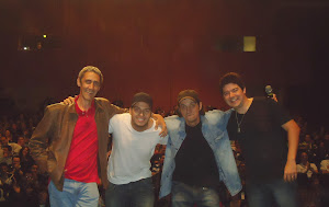 No palco com Márcio Américo, Paulo Deodato e Edson Jr