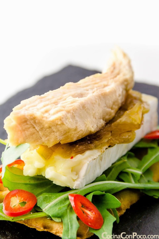 Receta de tosta de ventresca de atun