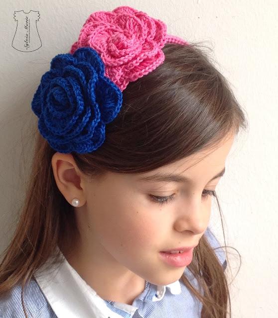 diademas crochet haarreife häkeln