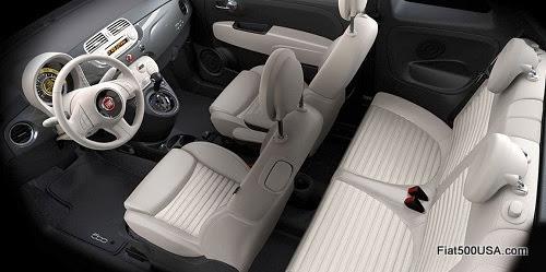 Fiat 500 Avorio Interior