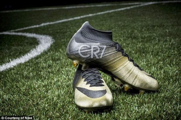 But Emas Bertatah Berlian Hadiah Nike Buat Ronaldo, info sukan, bola sepak, Cristiano ronaldo, pemain terbaik dunia 2014