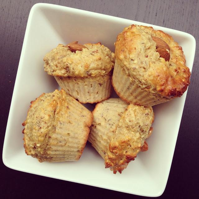 muffins amandes lin protéinés