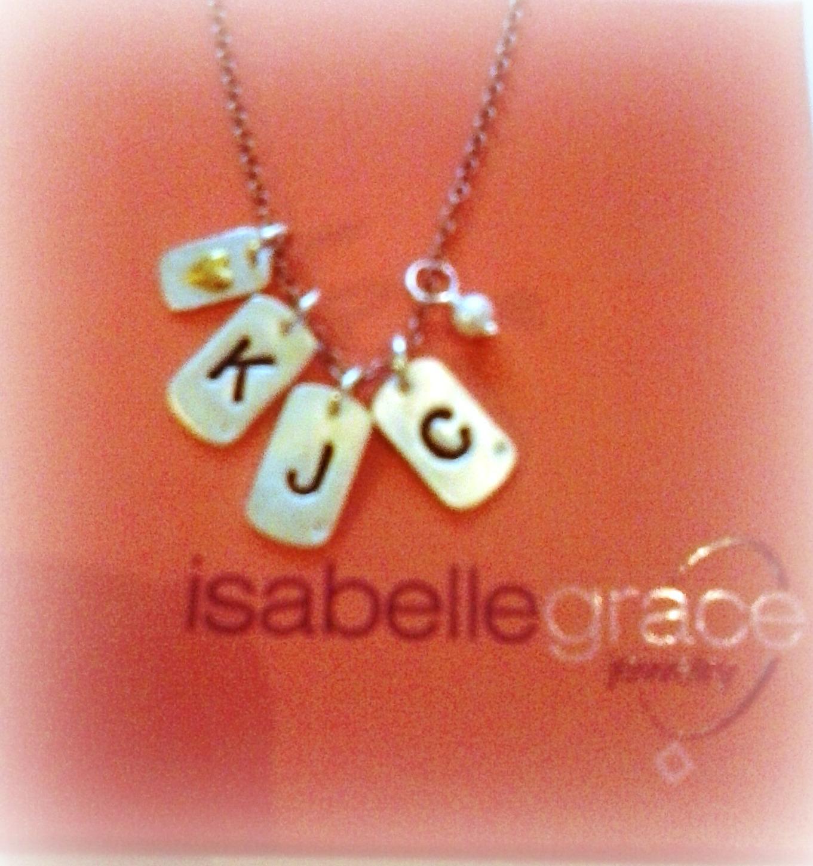 Isabelle Grace mini tag necklace