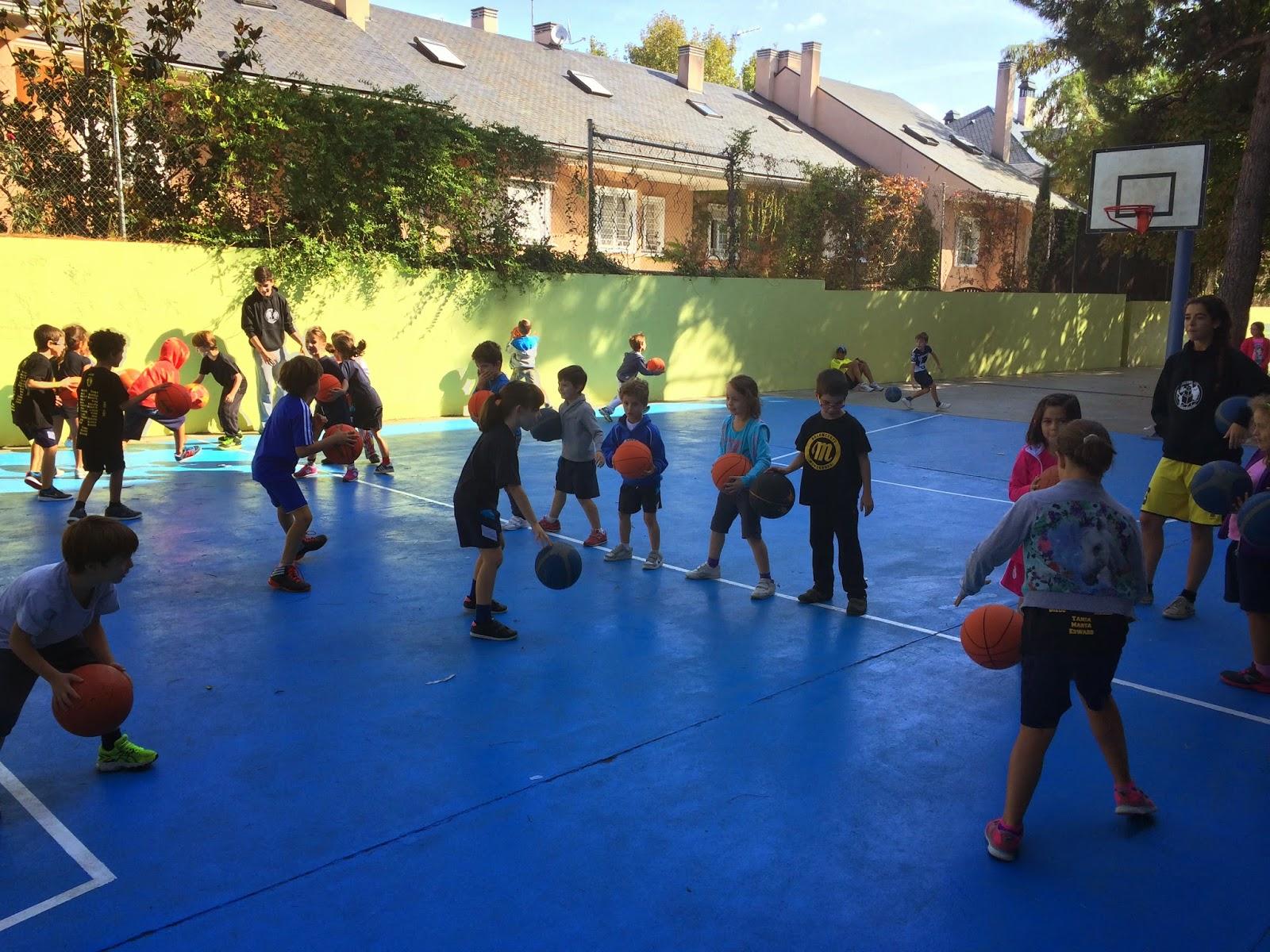 Baloncesto montessori escuela 04 10 2014 - Parque conde orgaz ...