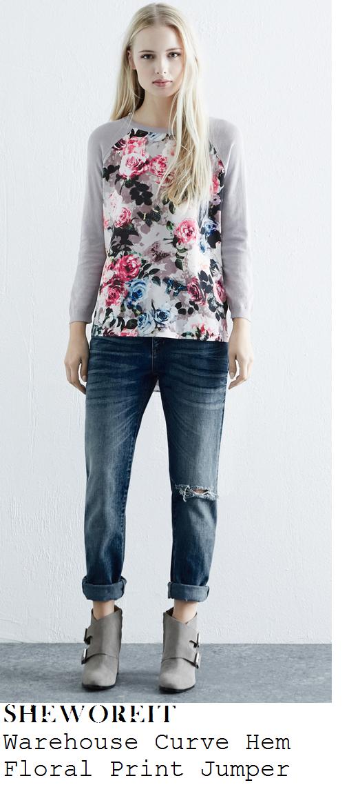 kimberley-walsh-grey-floral-print-long-sleeve-jumper-top-this-morning