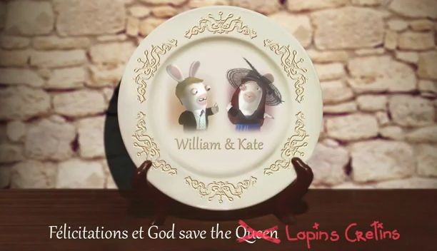 Lapins Crétins mariage Kate William