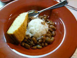 Beans rice and cornbread, can't go wrong!