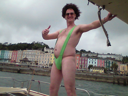 Mankini on a stag party