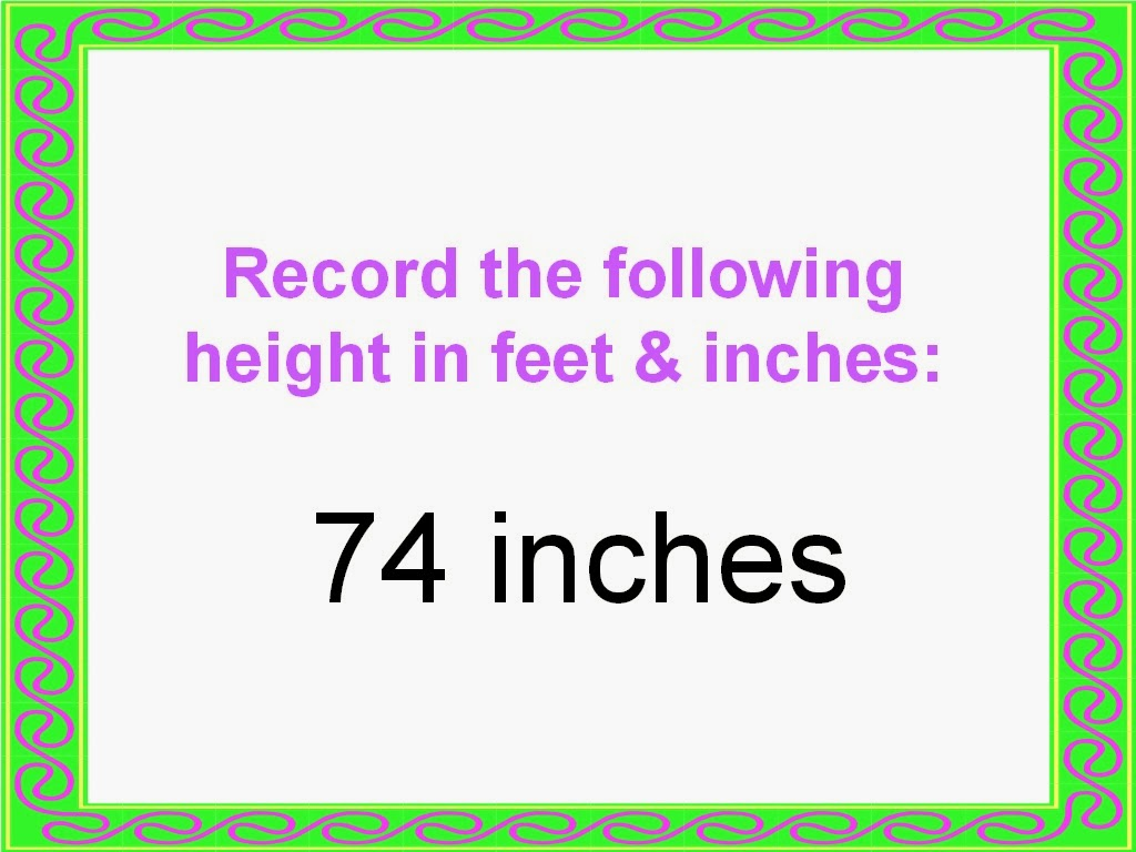 Student Survive 2 Thrive Convert Height To Feet And Inches Examples
