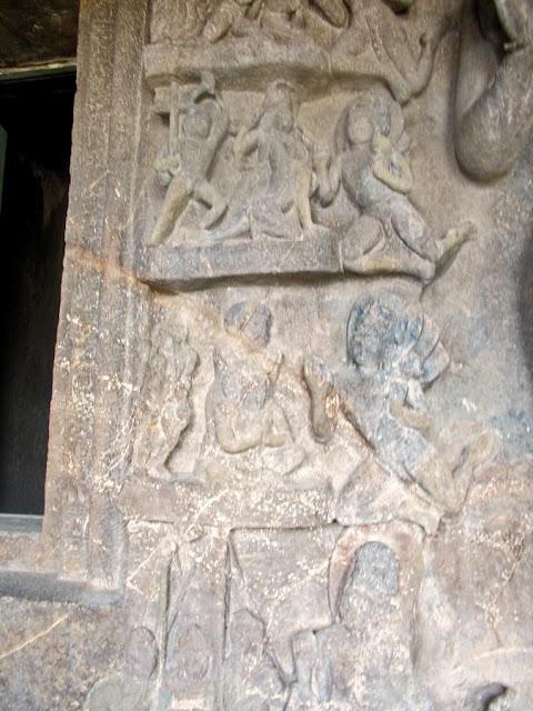 Buddhist fresco at Aurangabad caves