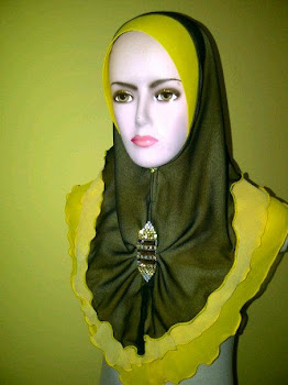 Tudung Chiffon 3 layer Brooch Sampan Awning Chiffon (JAN 2013)