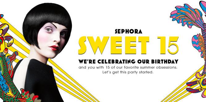 15 ans pour Sephora et super promo à 15$