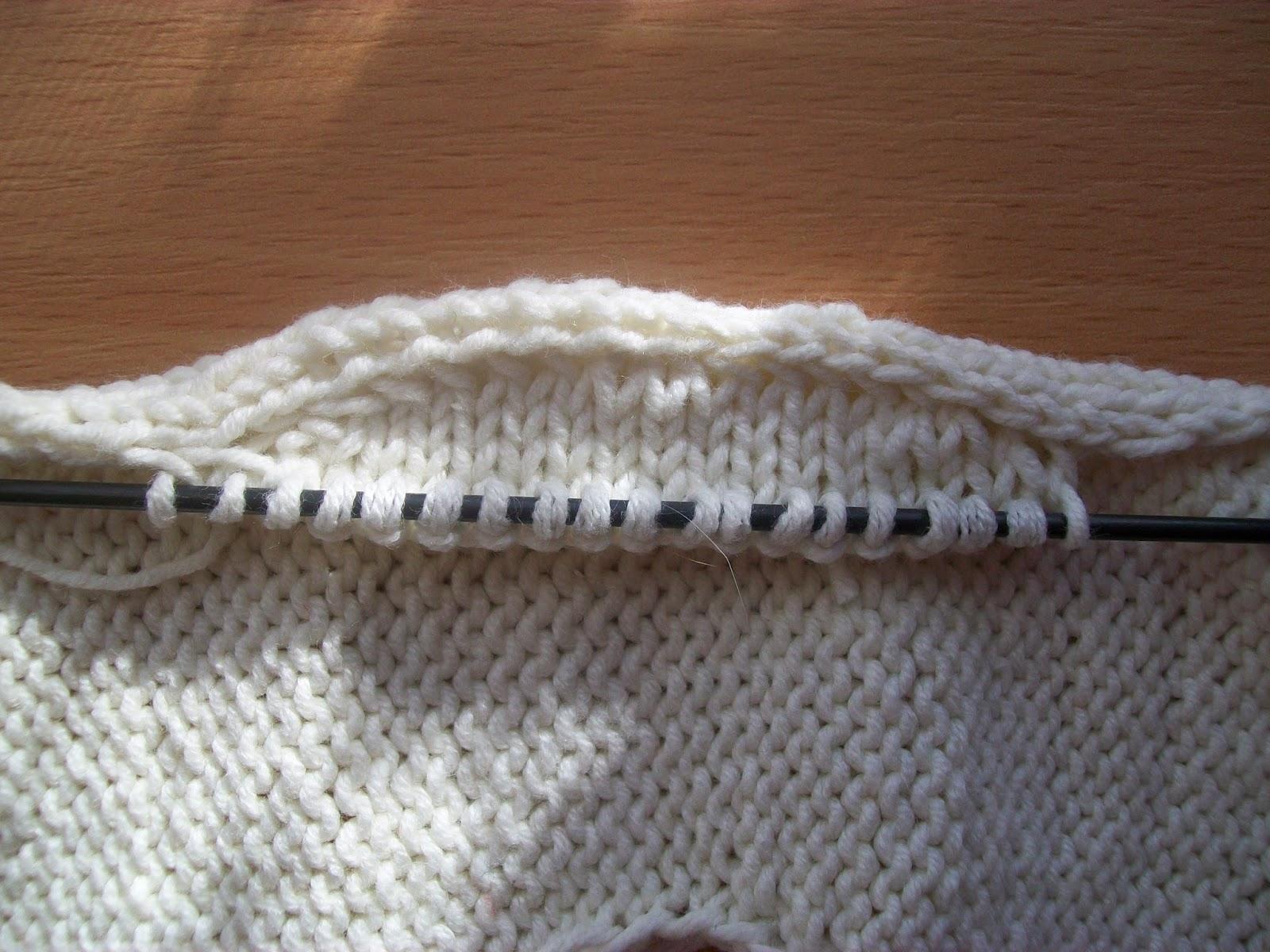 Импровизация вшивного рукава вязание сверху видео