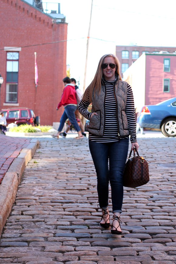 portland maine, new england fashion blogger, cobblestone streets