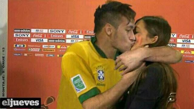 Juara Konfederasi, Pemain Brasil Neymar Cium Kekasih Iker Casillas ( Foto )