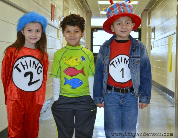 Write snap scrap dr seuss dress up day one fish two for One fish two fish red fish blue fish costume