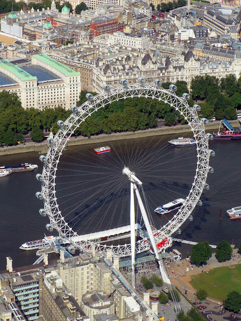 Aerial shot of the London Eye and the River Thames. Photo: WikiMedia.org.