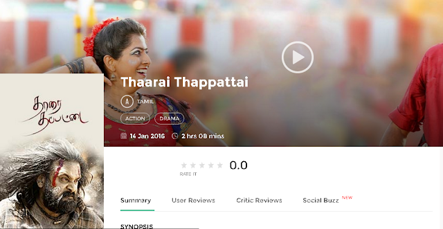Thaarai Thappattai (2016) Telugu Movie 300mb and Mp4 Free