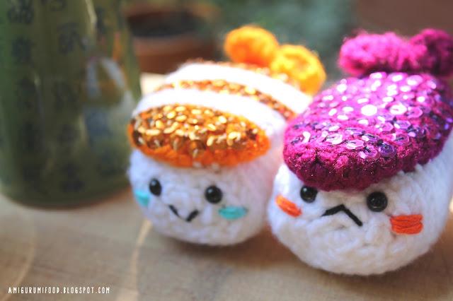 Amigurumi Food: Shining Sushi Amigurumi!