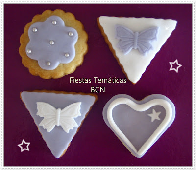 Galletas color morado
