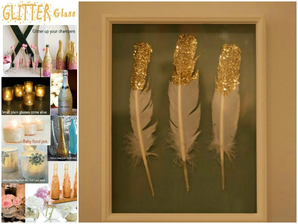 home decor glitter and gold