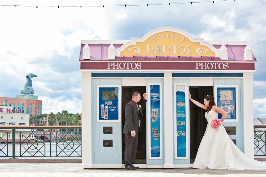 Escape Disney Wedding Spotlight Tracy David wedding disney theme
