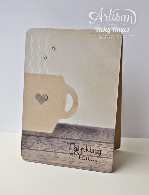 UK Stampin' Up demonstrator Vicky Hayes shows how to make a mug out of the Curvy Keepsake Box die