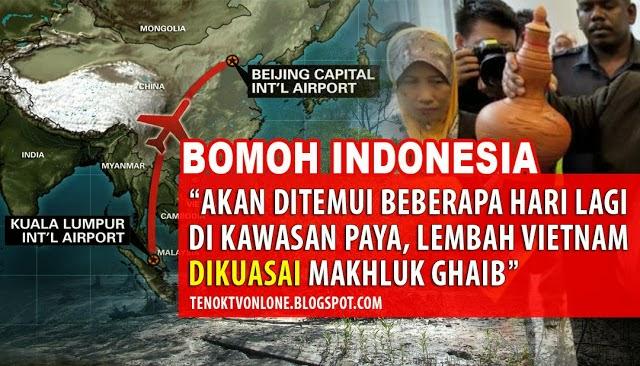 MH370 Berada Di Lembah, Dikuasai Makhluk Ghaib
