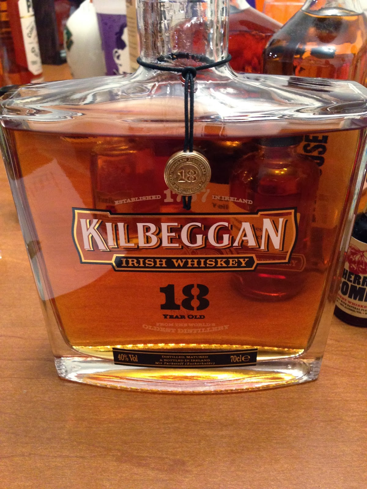 Kilbeggan 18 Irish Whiskey