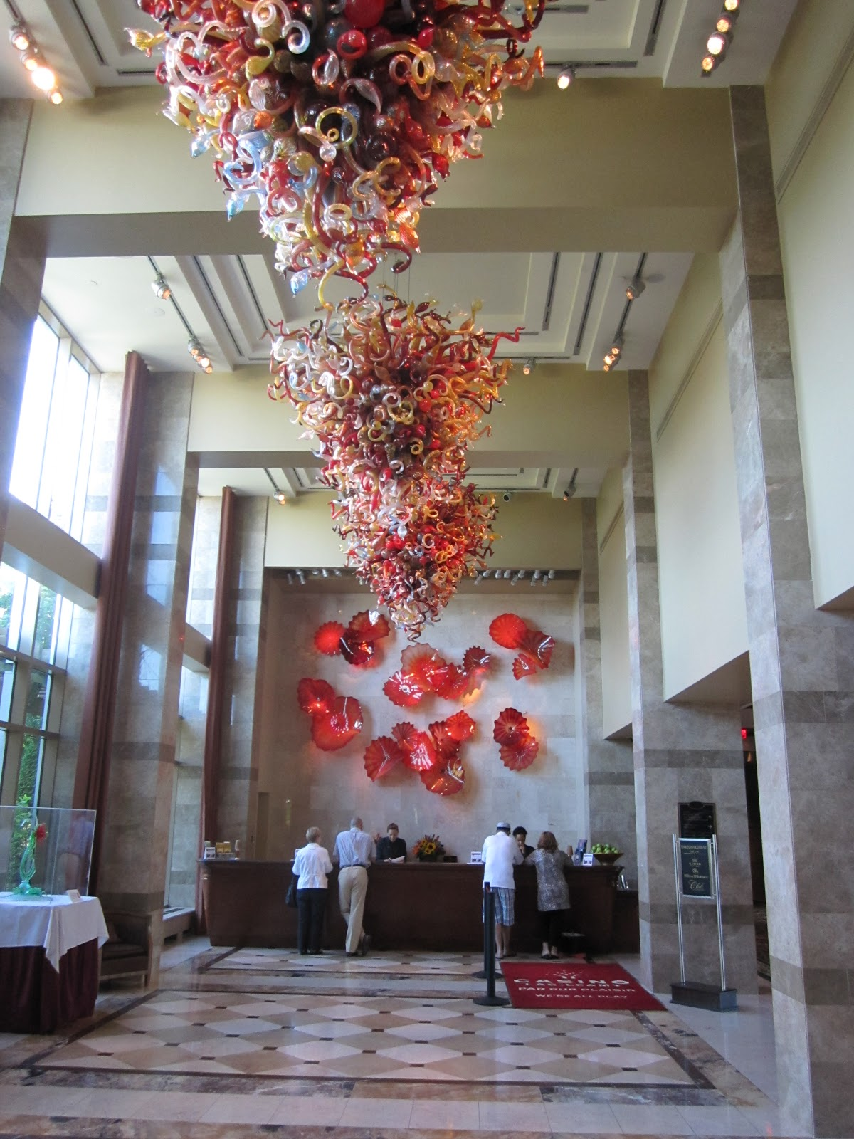 Chihuly chandelier at home and interior design ideas good chihuly chandeliers in lac leamy lobby arubaitofo Image collections