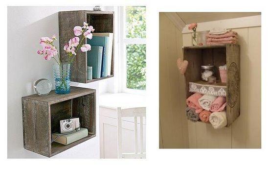 Jac Design Decorando com caixotes de feira e paletes -> Armario De Banheiro Feito Com Caixote